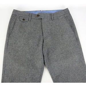 Bonobos 31x32 Tweed Casual Pants Herringbone Gray